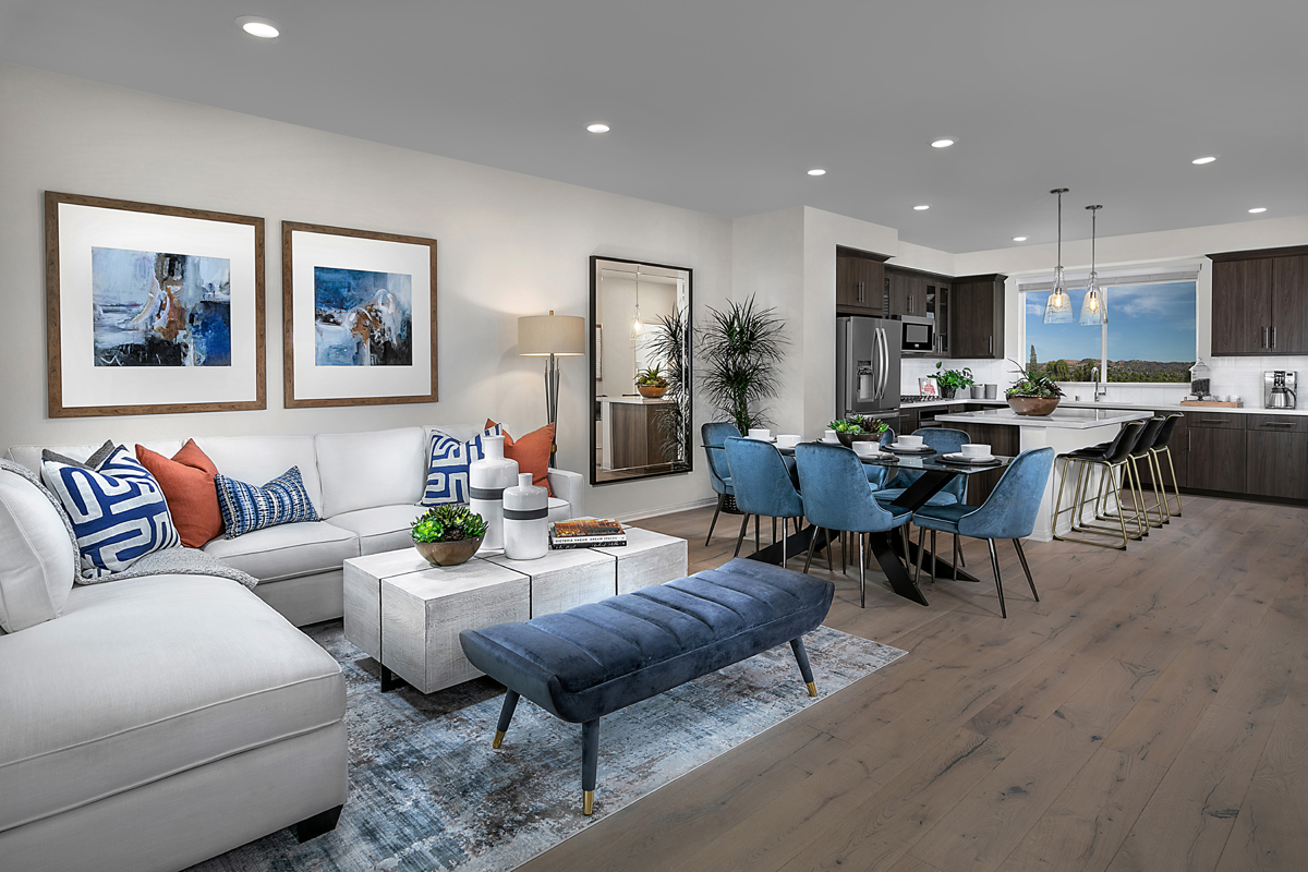 New Homes in Irvine, CA - Paseo Del Mar Residence 3 Great Room and Dining Room