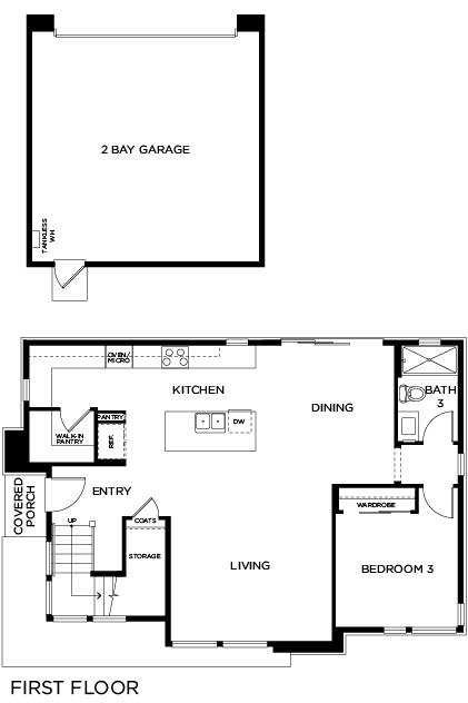 New Homes in Irvine, CA - Residence Two, First Floor