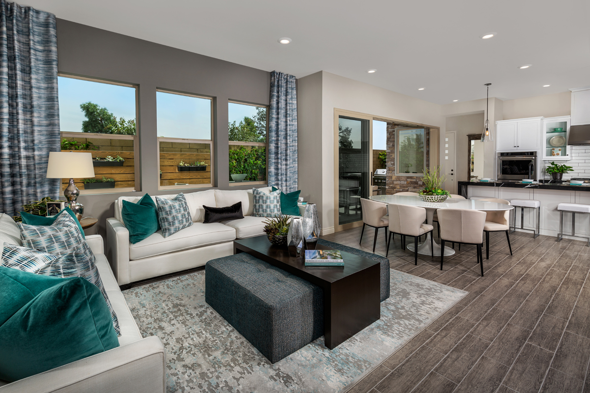 New Homes in Irvine, CA - Prado at Cadence Park Residence Three - Great Room