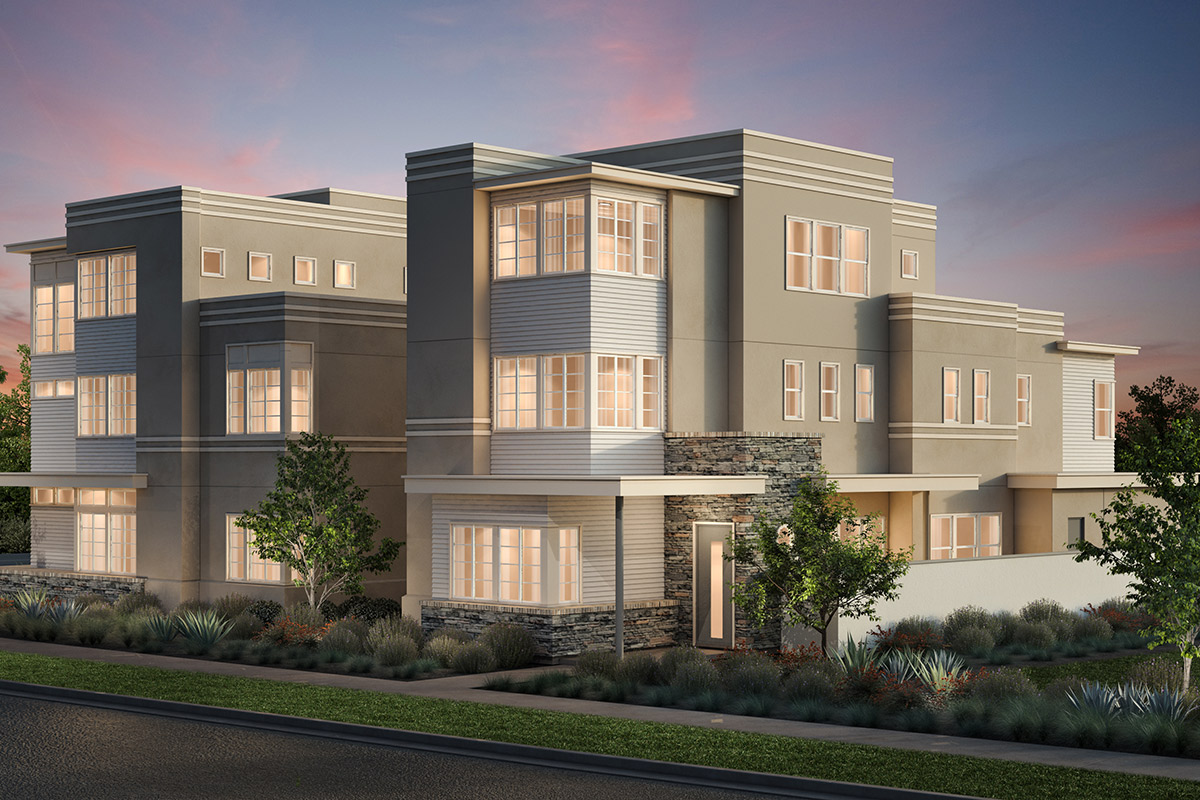 New Homes in Irvine, CA - Art Deco Elevation 'B'