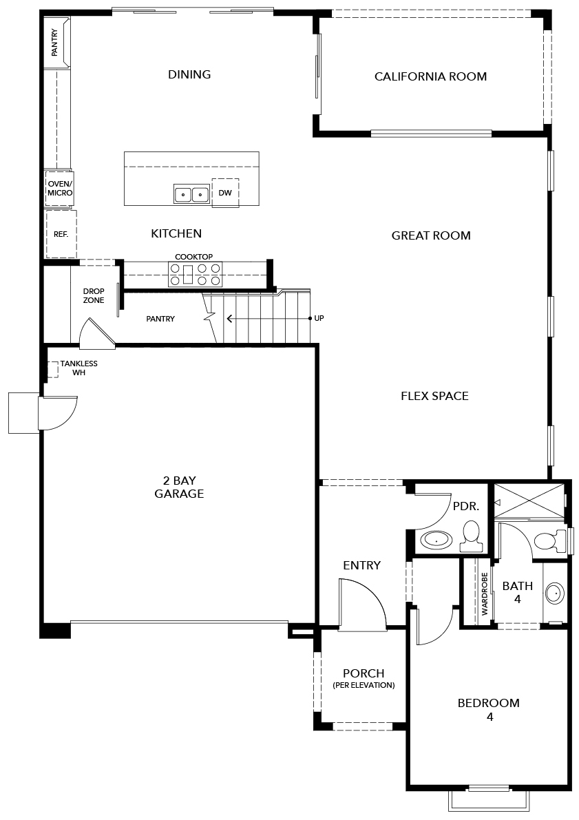 New Homes in Irvine, CA - Plan 2892, First Floor