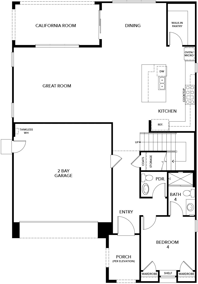 New Homes in Irvine, CA - Plan 2886, First Floor