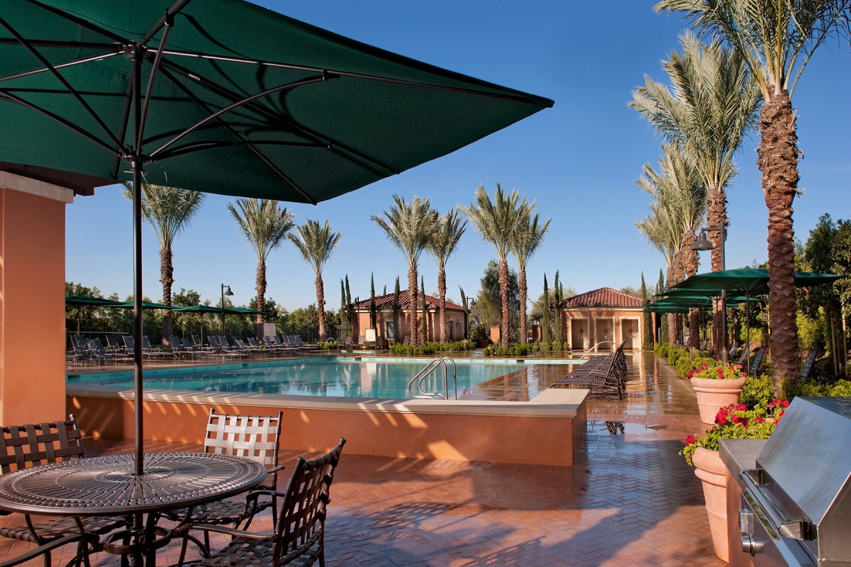 Amenity pool at a KB Home community in Irvine, CA