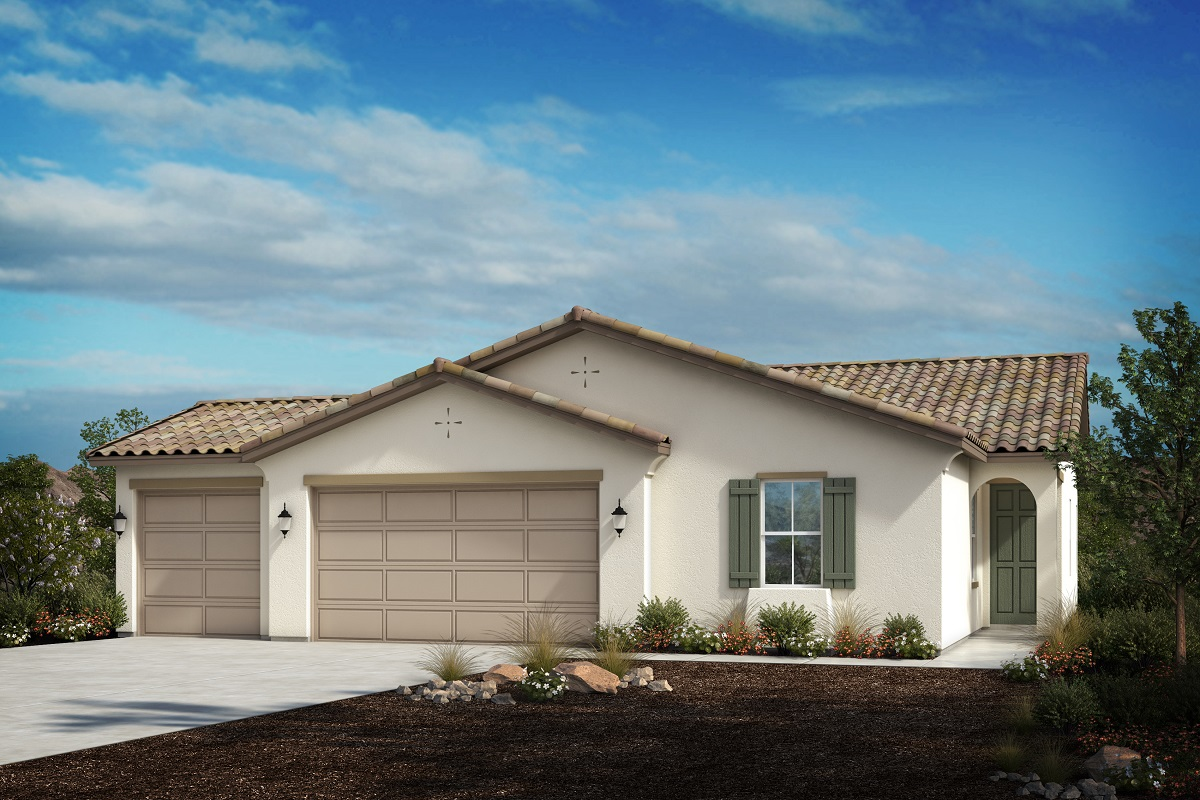 New Homes in Winchester, CA - Spanish 'A' 3-car garage