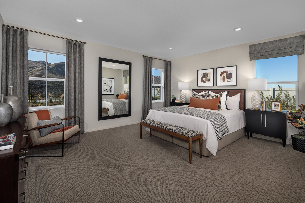 New Homes in Riverside, CA - Belcara at Spring Mountain Ranch Plan 2387 - Master Bedroom