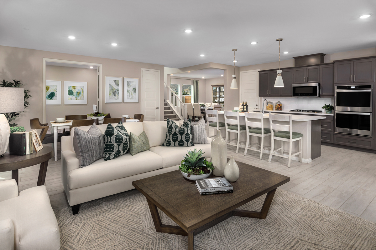 New Homes in Riverside, CA - Belcara at Spring Mountain Ranch Plan 3132 - Great Room
