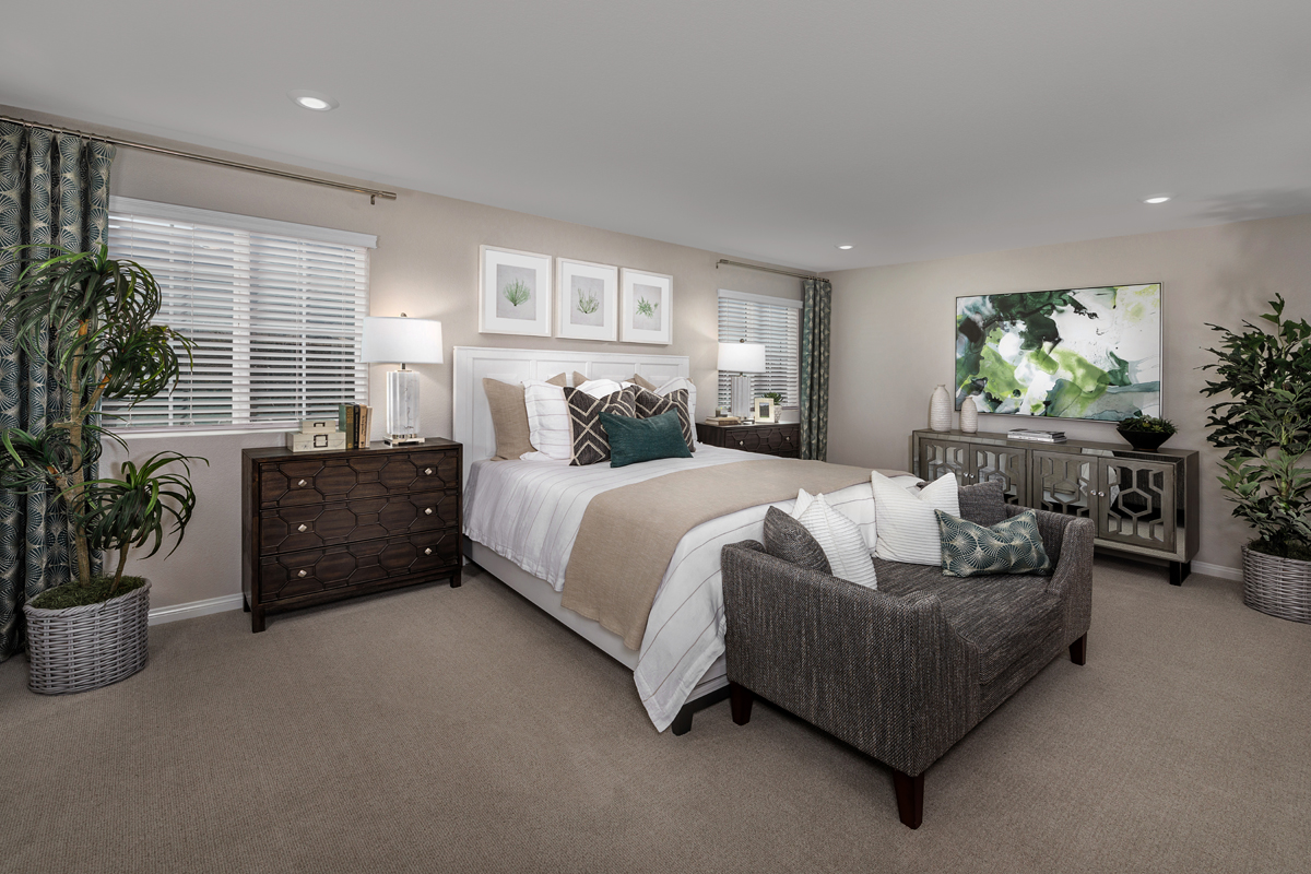New Homes in Riverside, CA - Belcara at Spring Mountain Ranch Plan 3132 - Master Bedroom