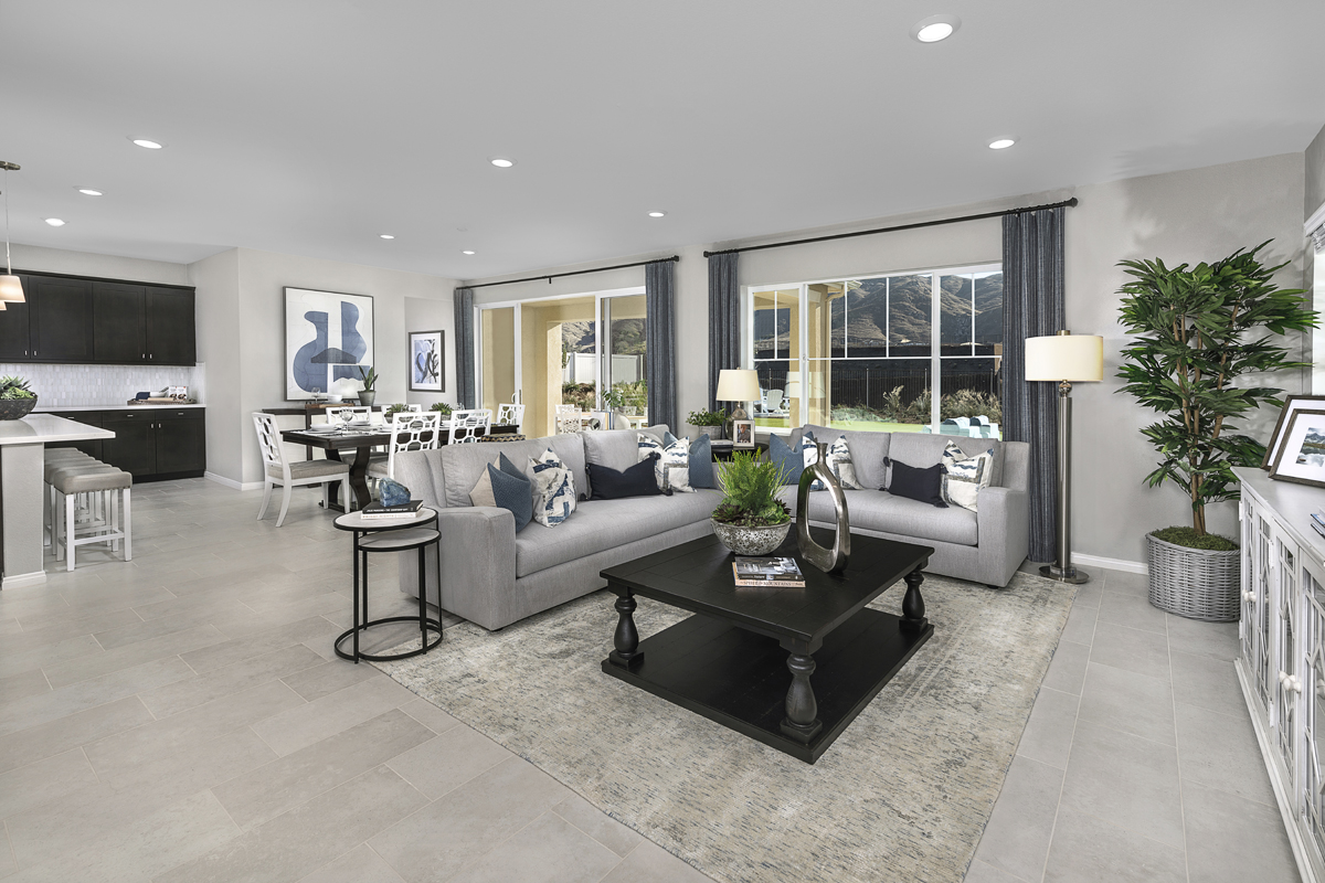 New Homes in Riverside, CA - Belcara at Spring Mountain Ranch Plan 3443 - Great Room