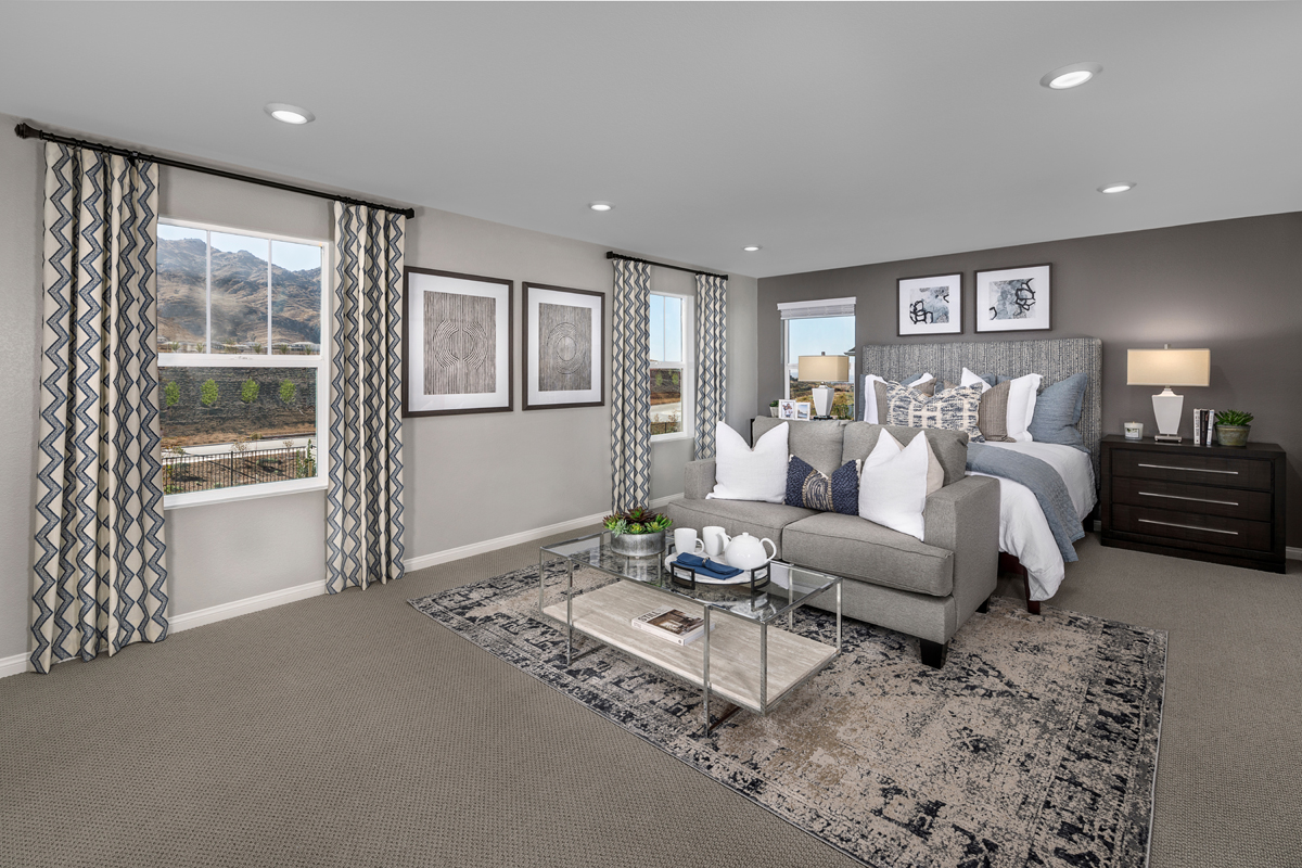 New Homes in Riverside, CA - Belcara at Spring Mountain Ranch Plan 3443 - Master Bedroom