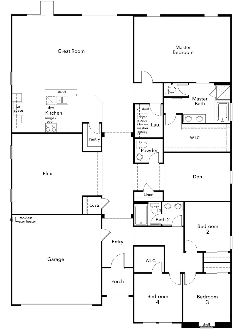 New Homes in Riverside, CA - Plan 2910, First Floor