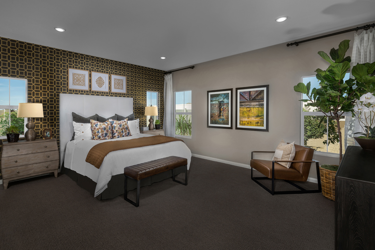 New Homes in Moreno Valley, CA - Bella Cortina Residence 2128 - Master Bedroom