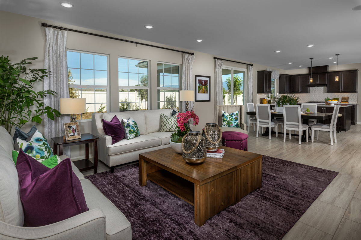 New Homes in Moreno Valley, CA - Bella Cortina Residence Four - Great Room