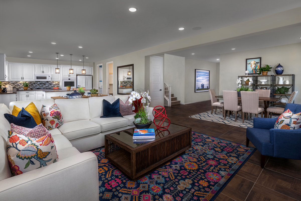 New Homes in Moreno Valley, CA - Bella Cortina Residence Five - Great Room