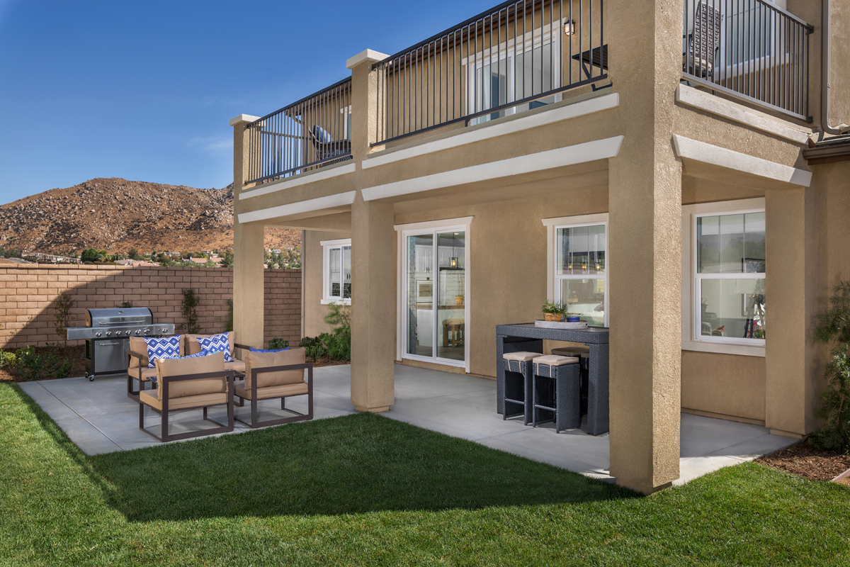 New Homes in Moreno Valley, CA - Bella Cortina Residence Five - Patio