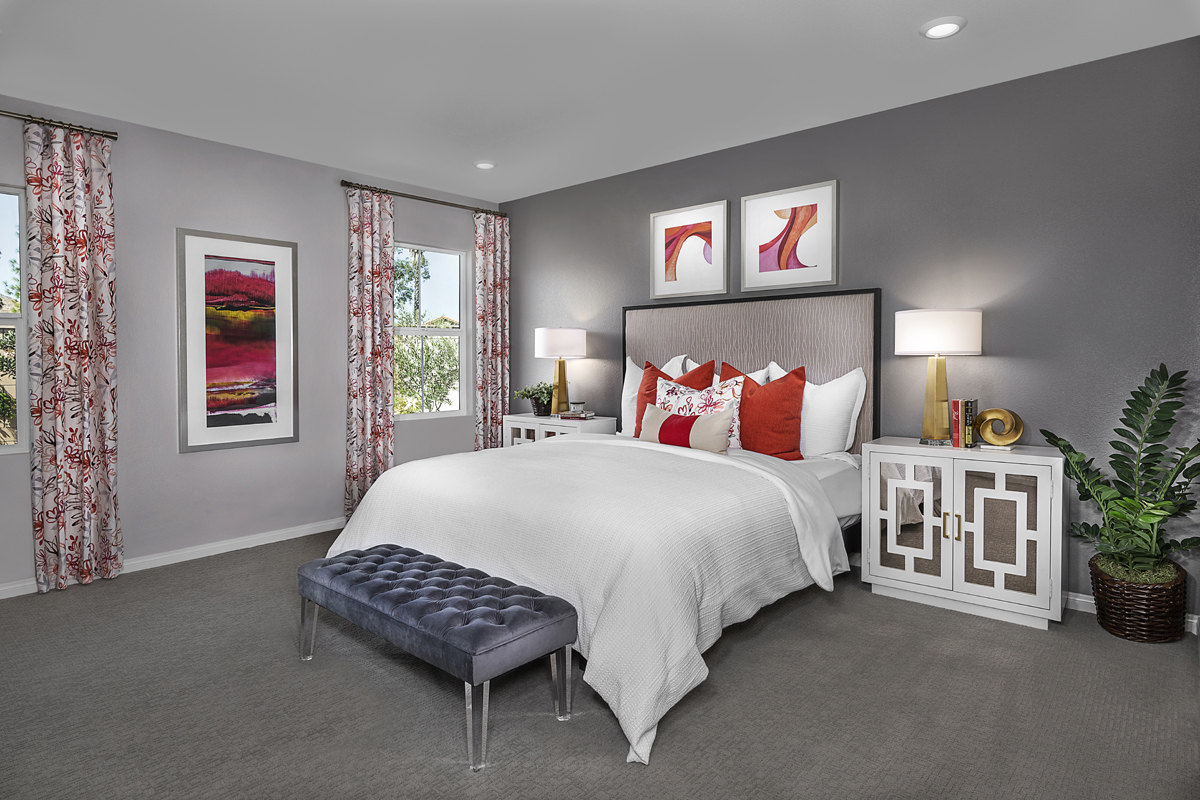 New Homes in Moreno Valley, CA - Boulder Ridge Residence Four - Master Bedroom