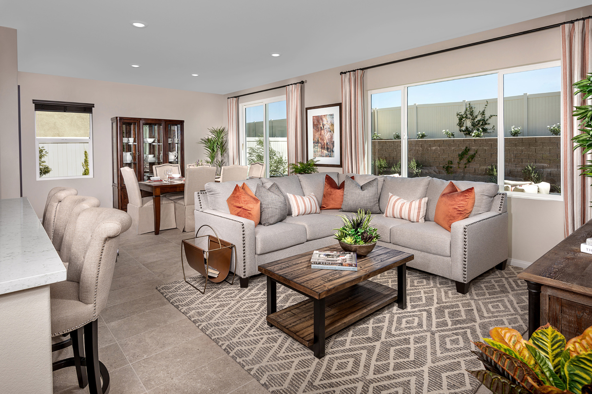 New Homes in Winchester, CA - Camberly Place Residence Seven - Great Room
