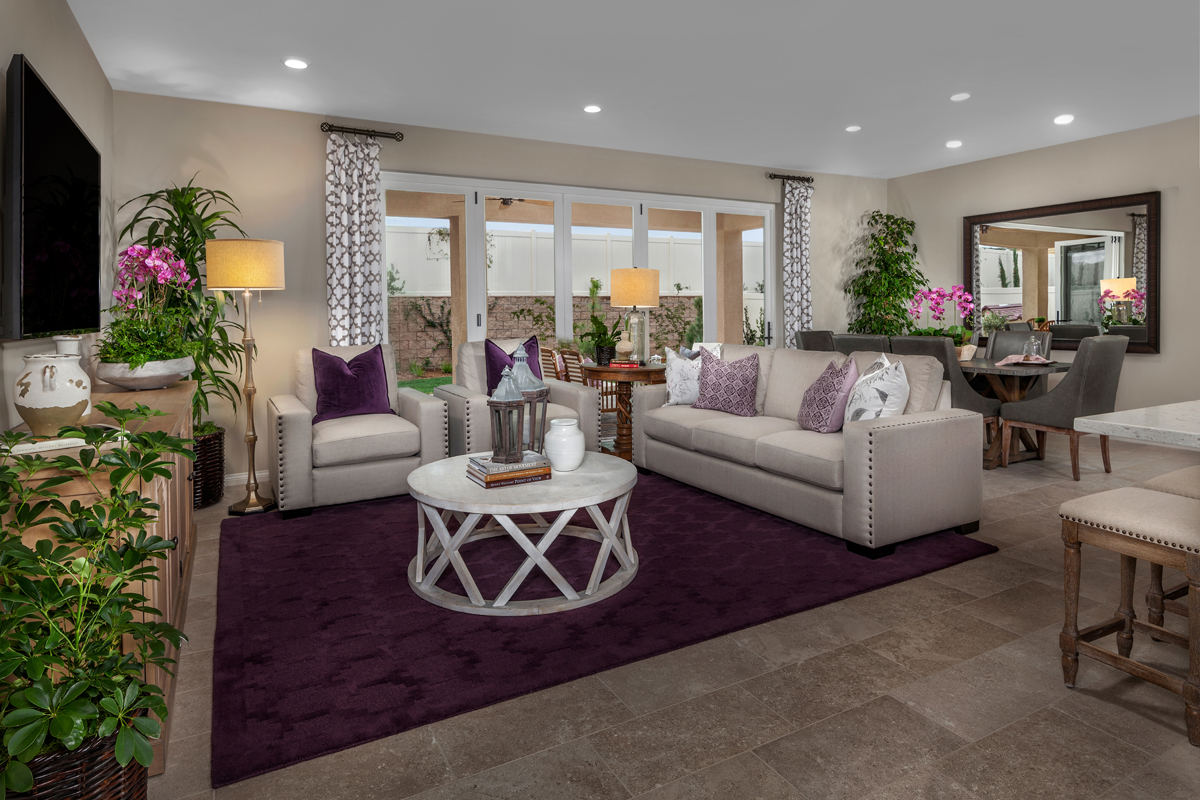 New Homes in Winchester, CA - Camberly Place Residence Four - Great Room