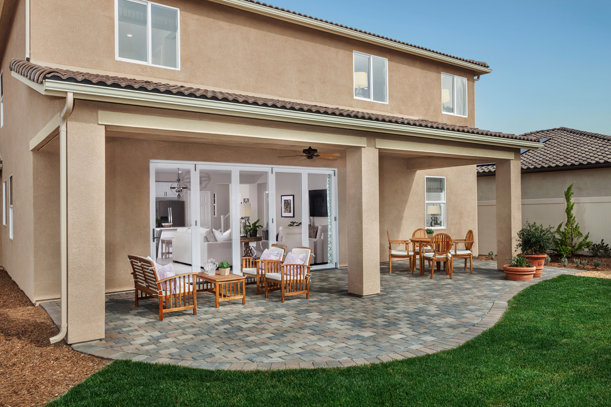 New Homes in Winchester, CA - Camberly Place Residence Four - Patio