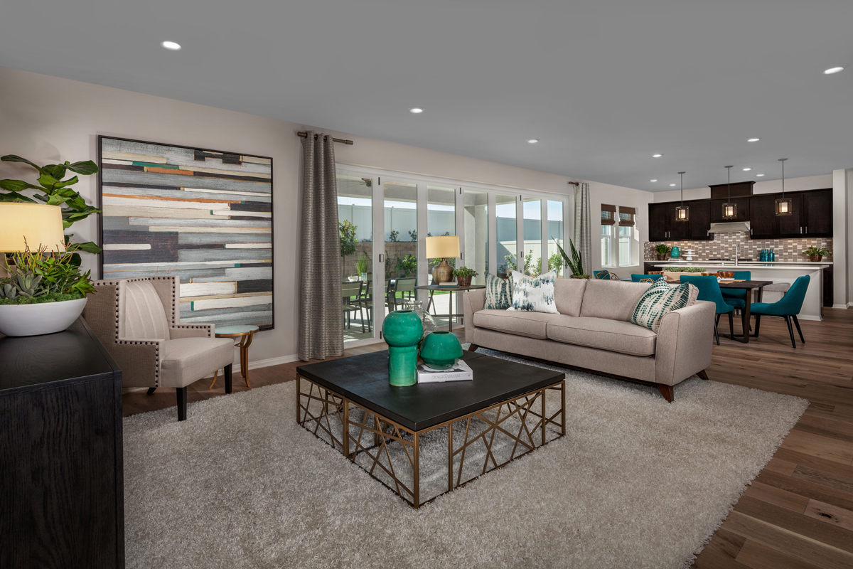 New Homes in Winchester, CA - Camberly Place Residence Six - Great Room