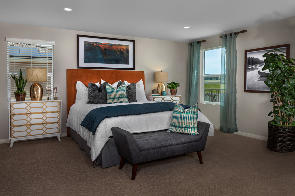 New Homes in Winchester, CA - Camberly Place Residence Six - Master Bedroom