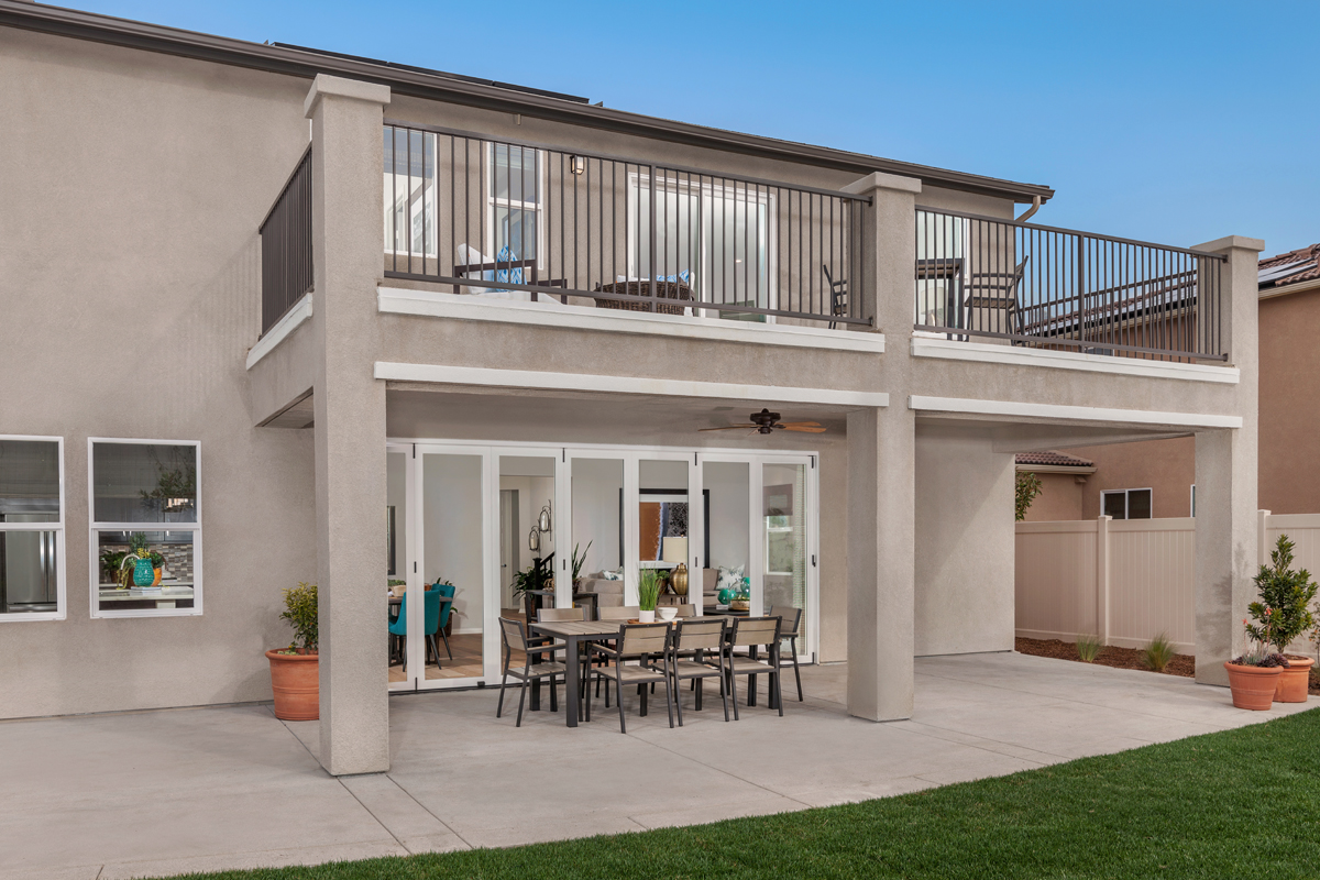 New Homes in Winchester, CA - Camberly Place Residence Six - Patio