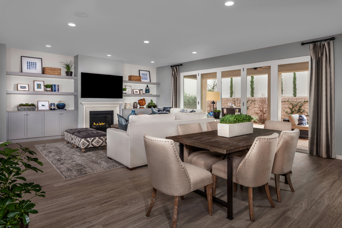 New Homes in Winchester, CA - Camberly Place Residence Two - Great Room