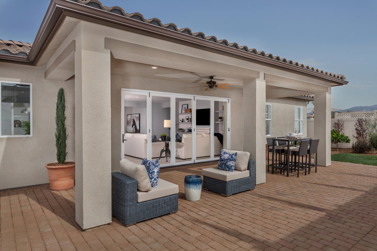 New Homes in Winchester, CA - Camberly Place Residence Two - Patio