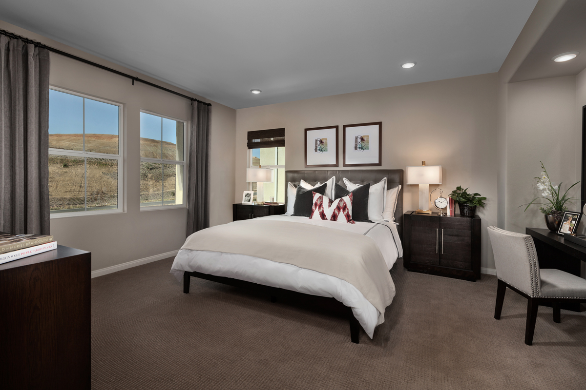 New Homes in Corona, CA - Caraway at Terramor Residence Two - Master Bedroom
