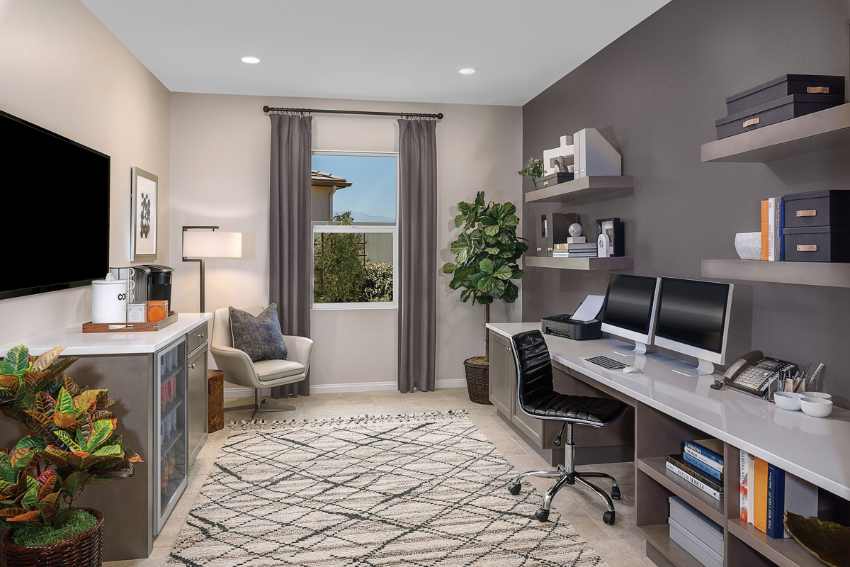 New Homes in Riverside, CA - Carmel Ridge at Spring Mountain Ranch Residence Five - Home Office