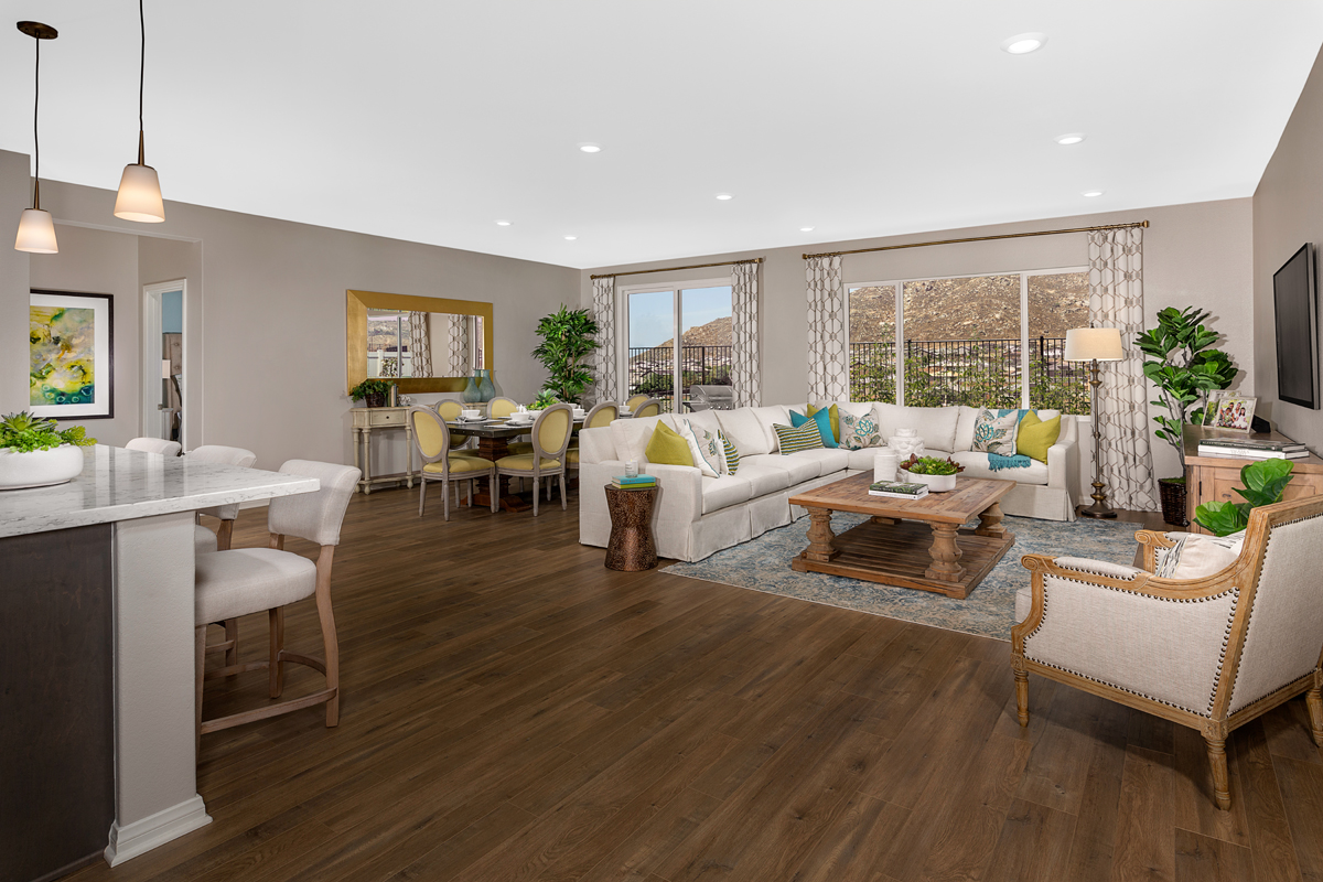 New Homes in Riverside, CA - Carmel Ridge at Spring Mountain Ranch Residence One - Great Room