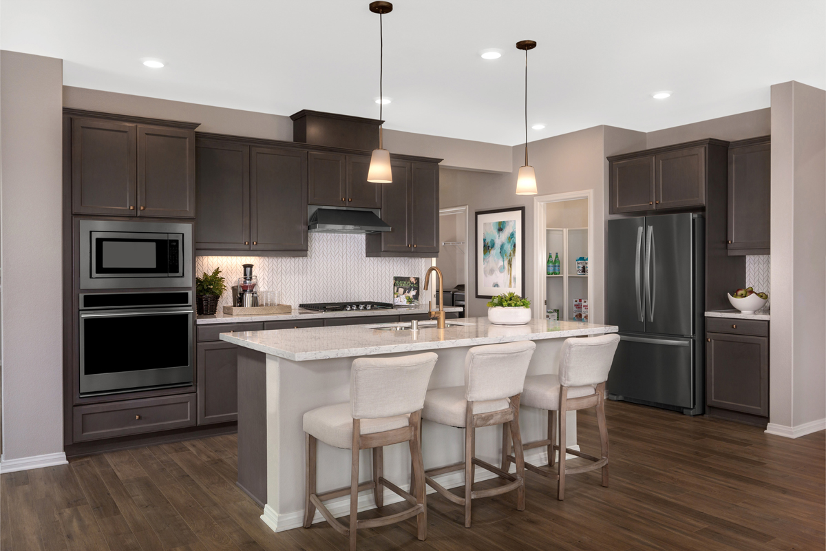 New Homes in Riverside, CA - Carmel Ridge at Spring Mountain Ranch Residence One - Kitchen