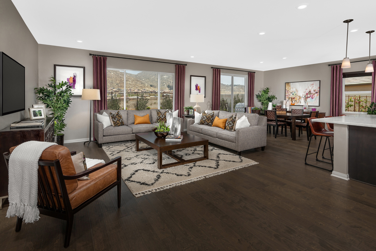 New Homes in Riverside, CA - Carmel Ridge at Spring Mountain Ranch Residence Three - Great Room