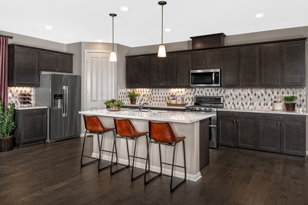 New Homes in Riverside, CA - Carmel Ridge at Spring Mountain Ranch Residence Three - Kitchen