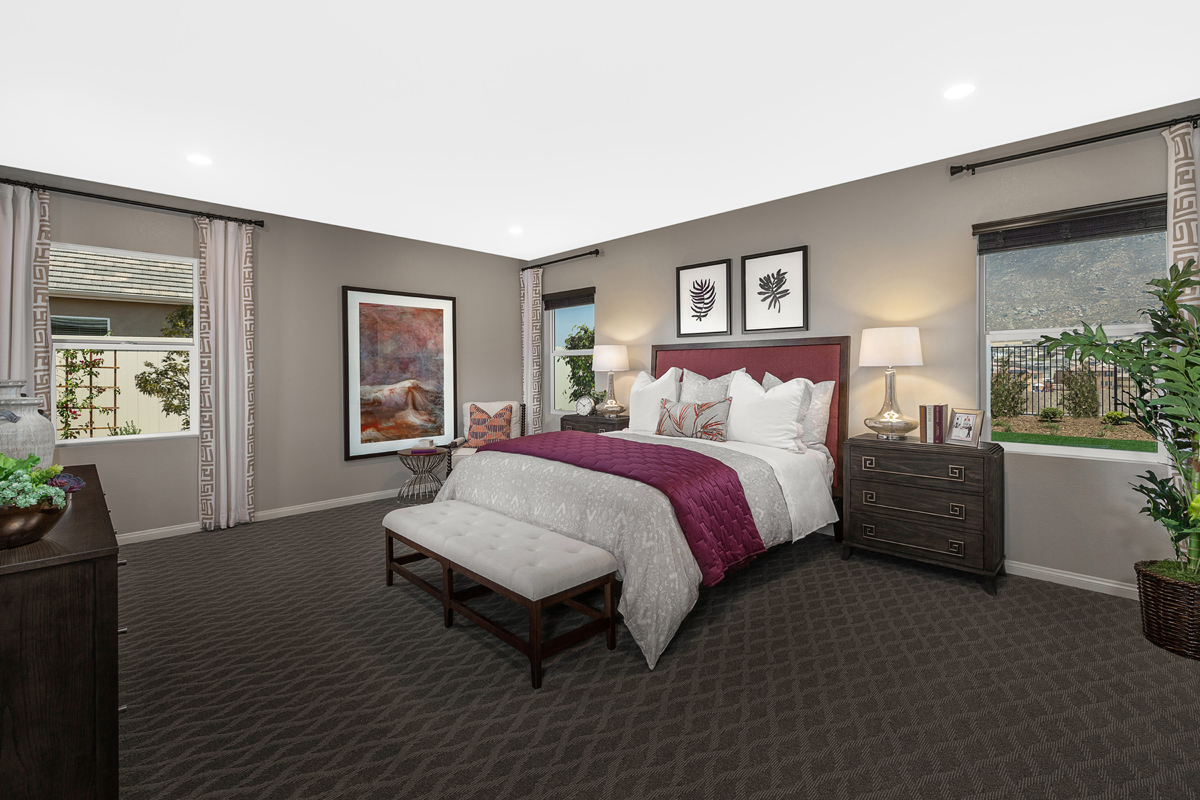 New Homes in Riverside, CA - Carmel Ridge at Spring Mountain Ranch Residence Three - Master Bedroom