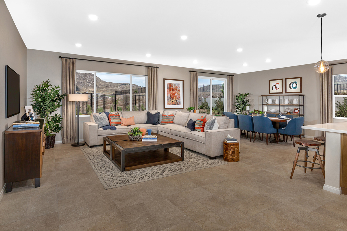 New Homes in Riverside, CA - Carmel Ridge at Spring Mountain Ranch Residence Five - Great Room
