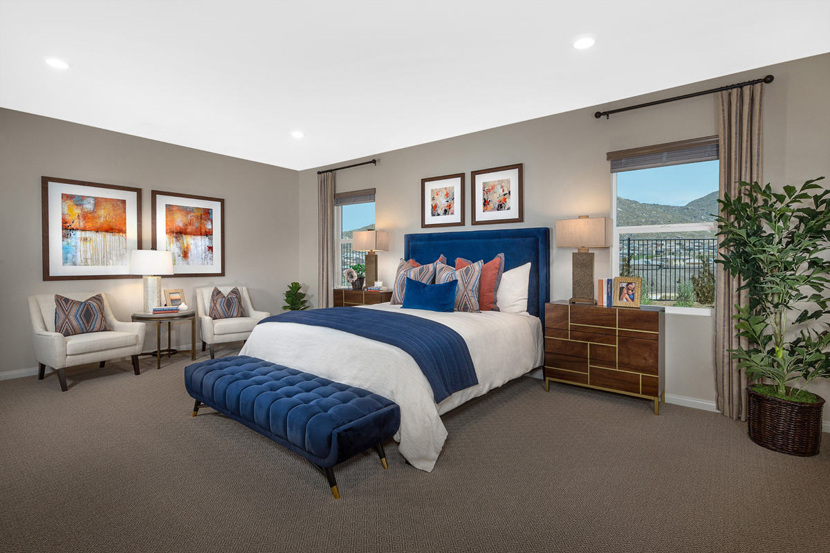 New Homes in Riverside, CA - Carmel Ridge at Spring Mountain Ranch Residence Five - Master Bedroom