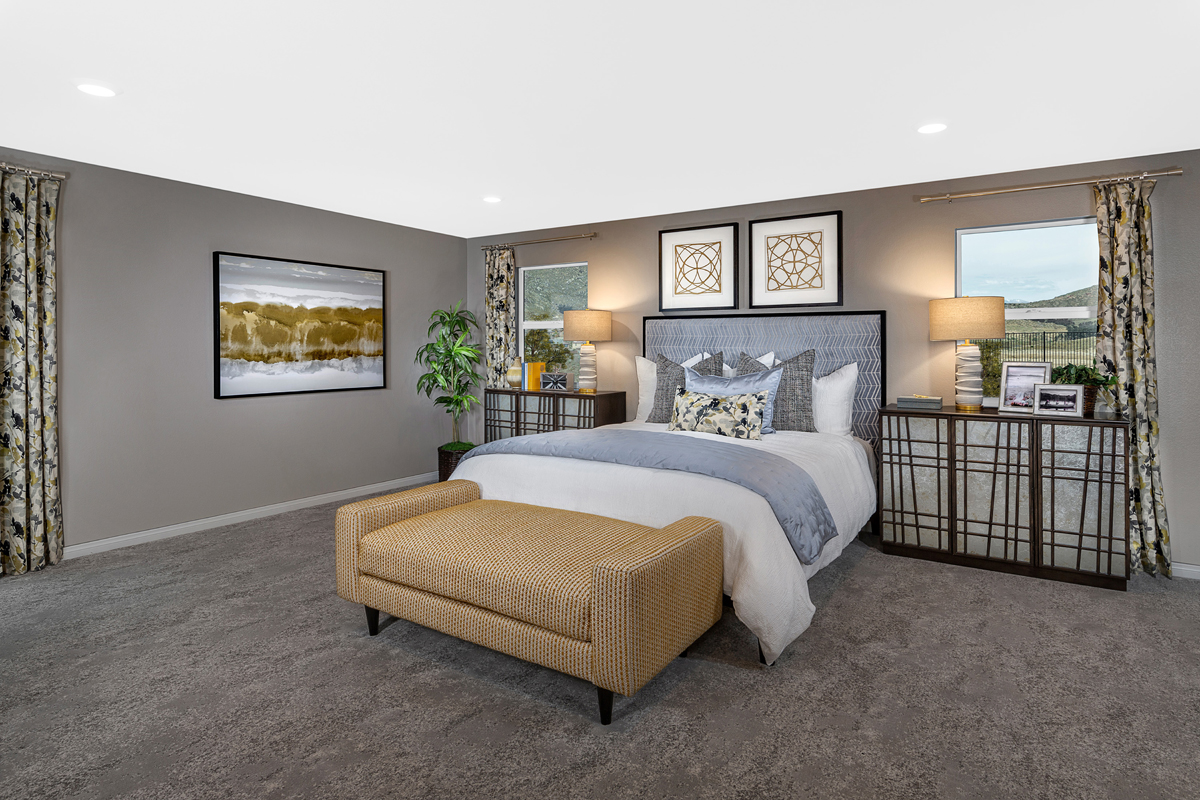 New Homes in Riverside, CA - Carmel Ridge at Spring Mountain Ranch Residence Six - Master Bedroom