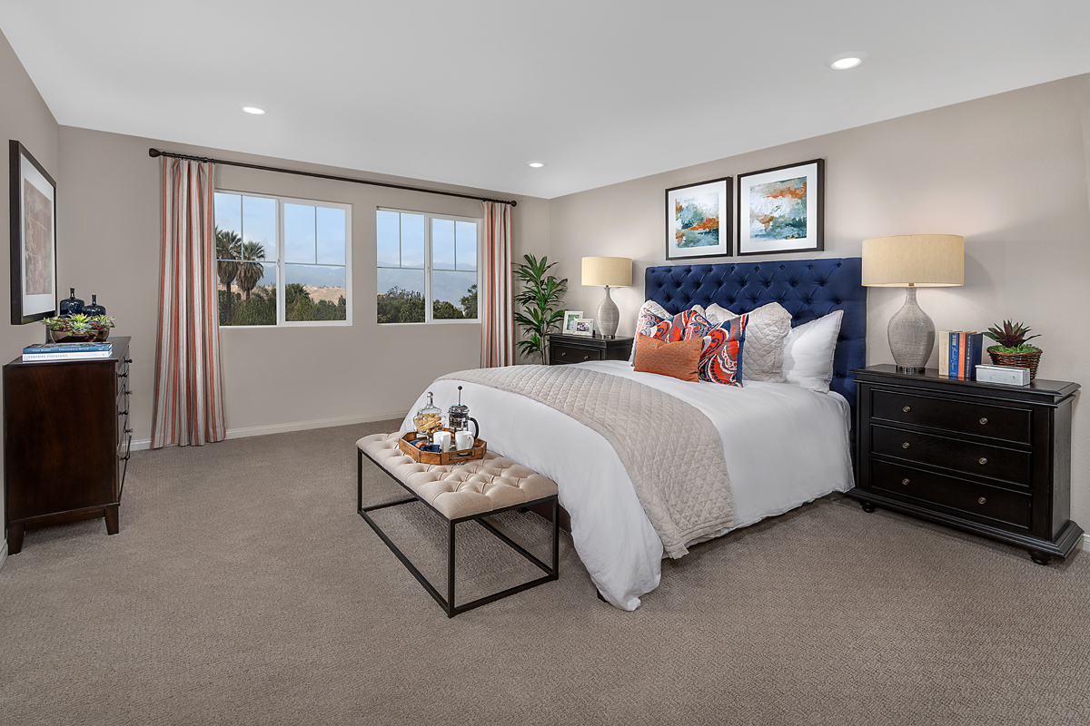 New Homes in Ontario Ranch, CA - Countryside Residence Two - Master Bedroom