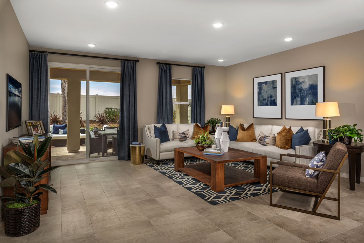 New Homes in Menifee, CA - Cypress at Hidden Hills Residence 2091 - Great Room