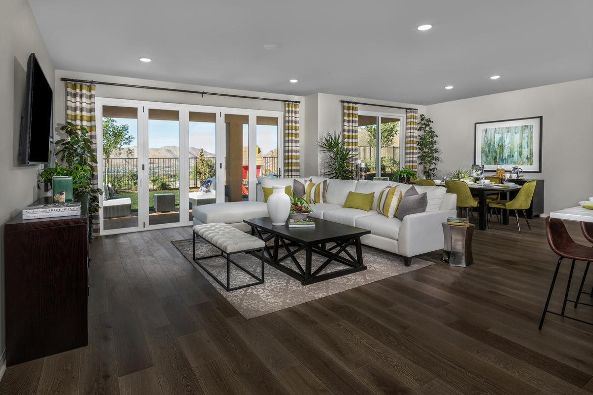 New Homes in Moreno Valley, CA - Daybreak Residence 2977 - Great Room