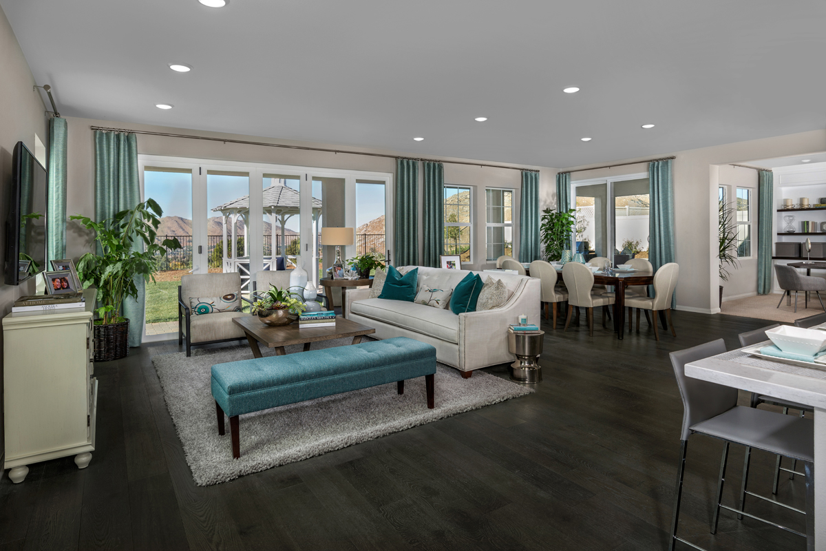 New Homes in Moreno Valley, CA - Daybreak Residence 2854 - Great Room