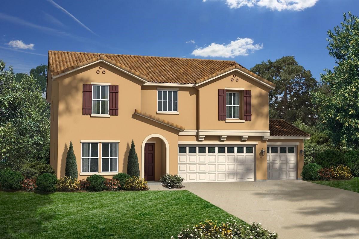 New Homes in San Jacinto, CA - Elevation A with 3-car garage