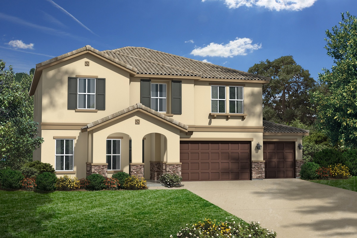 New Homes in San Jacinto, CA - Elevation B with 3-car garage