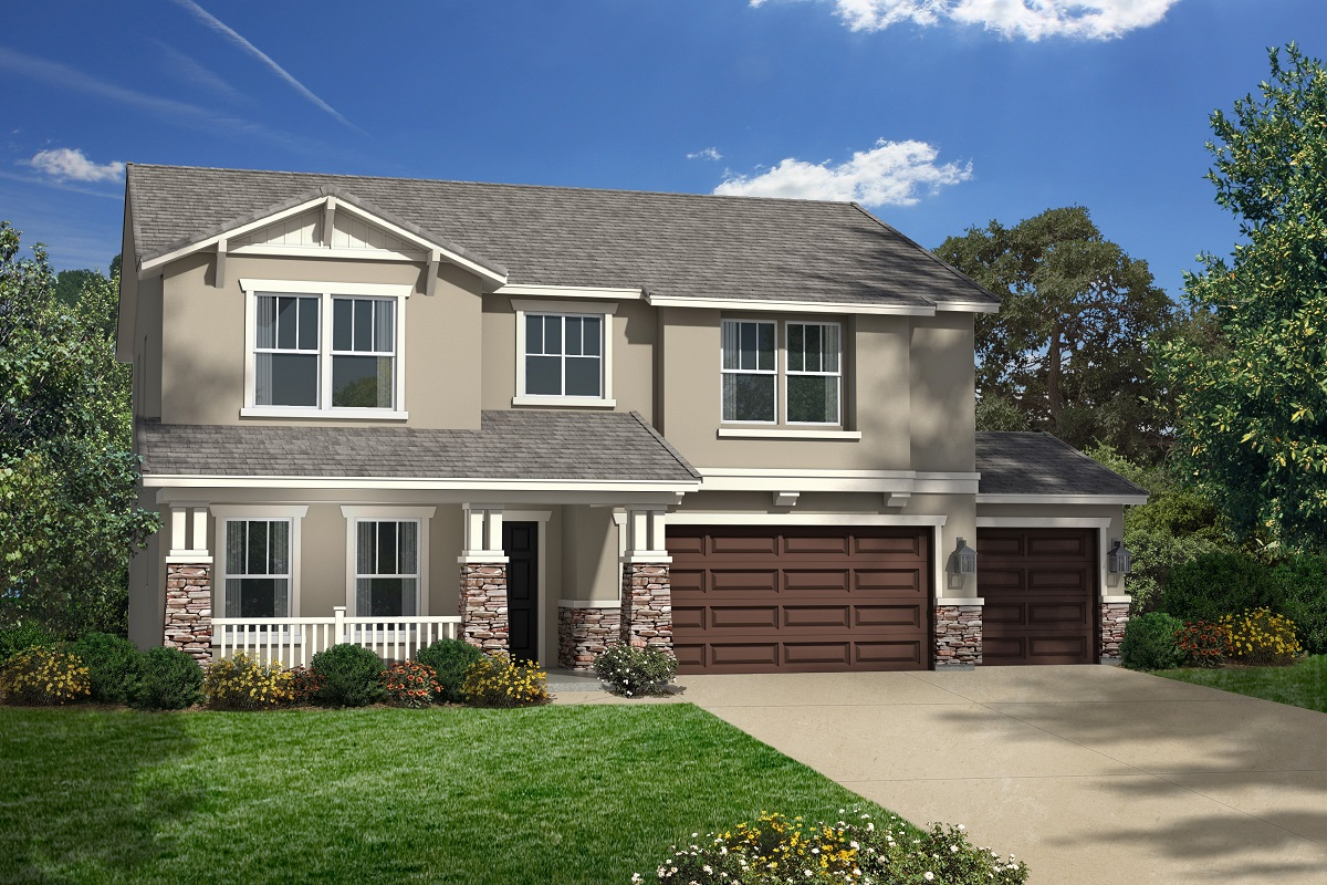 New Homes in San Jacinto, CA - Elevation C with 3-car garage