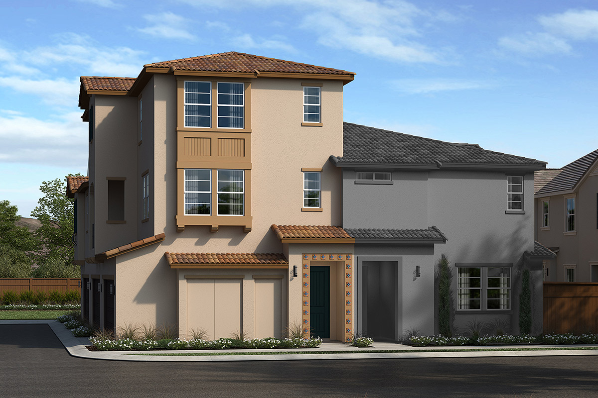 New Homes in Upland, CA - La Cresta at Sycamore Hills Plan 1922 Elevation A