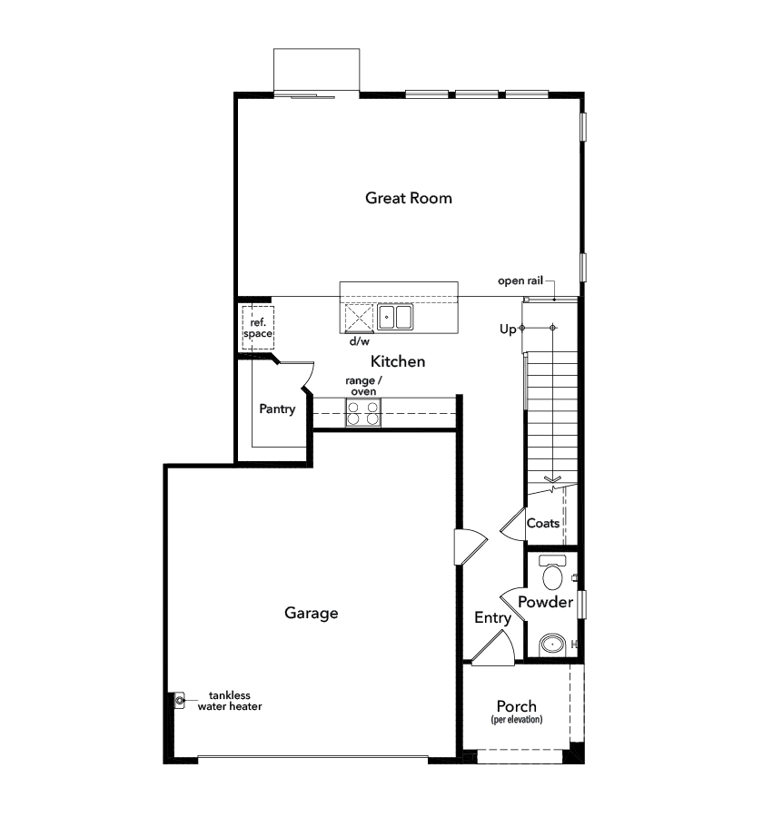 New Homes in Upland, CA - Plan 1832, First Floor