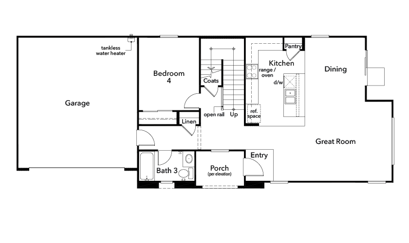 New Homes in Upland, CA - Plan 2283, First Floor
