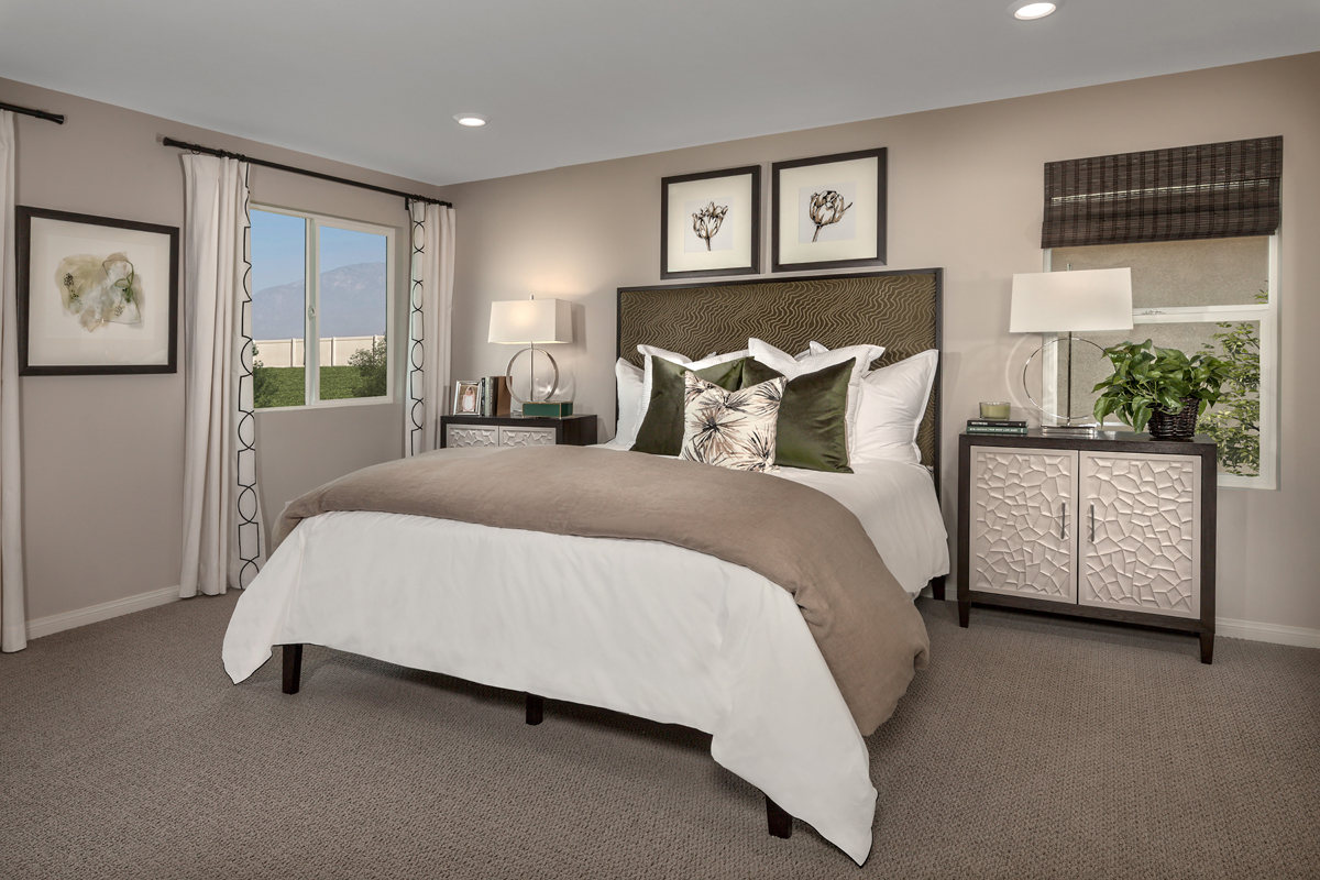 New Homes in Ontario Ranch, CA - Northpark Residence Two - Master Bedroom