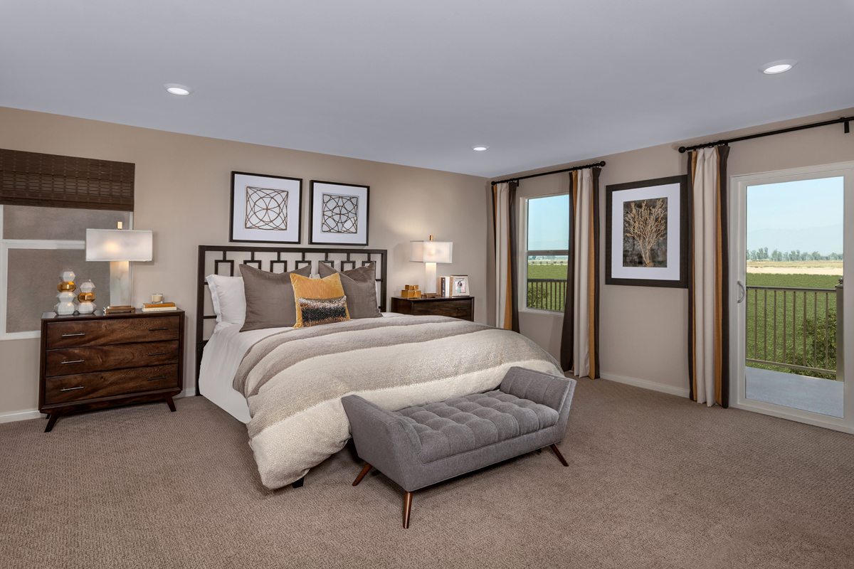 New Homes in Ontario Ranch, CA - Northpark Residence Four - Master Bedroom