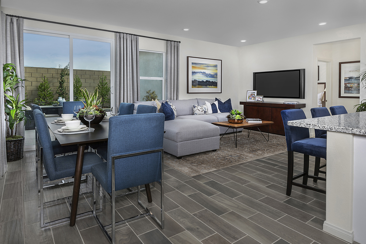 New Homes in Ontario Ranch, CA - Northpark Residence Five - Great Room